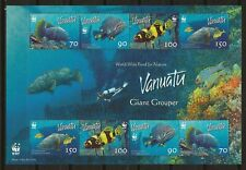 Vanuatu 2006 WWF Fauna Wildlife Marinelife Fisch Fish Grouper compl. MS MNH
