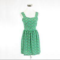 Green blue geometric ANTHROPOLOGIE TULLE sleeveless A-line dress S