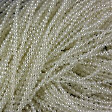 3mm Ivory Cream Pearl Bead String Trimming Wedding - 2 Metres Pack