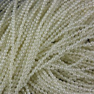 4mm Ivory Cream Pearl Bead String Trimming Wedding - 2 metres pack