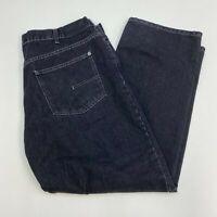 Calvin Klein Denim Jeans Mens 40 Black Straight Leg Cotton Blend Dark Wash Jeans