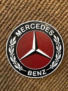Mercedes Cast Iron Sign Logo Badge - Mercedes Benz Cast Iron Plaque Sign