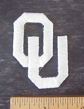 """OKLAHOMA UNIVERSITY SOONERS EMBROIDERED  2"""" x 1 1/4"""" IRON-ON SHIRT /CAP PATCH"""