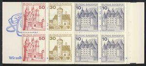 4 Markenheftchen, BRD, Bund, MH 21 a II, **, 1x große Marken unten [5]