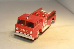 1960s Ford C-8 COE Fire Truck Zee Toys Made in Hong Kong