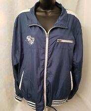 Urban Spirit Menswear Mens Bluish Green White Zipper Light Jacket Coat Size L