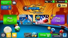 8 ball pool coins  (100 million coins account)