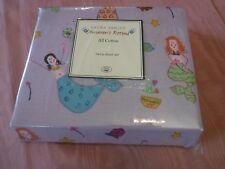 Laura Ashley Childrens Rooms Merry Mermaids Twin Sheet Set