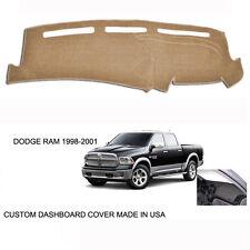 New Dodge Ram 1500 2500 Truck Custom Beige Tan Dashboard Dash Cover 1998-2001
