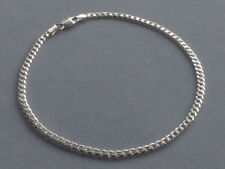 """10"""" CUBAN ANKLE BRACELET- STERLING SILVER ITALY 925 - 3mm- 080 GUAGE"""