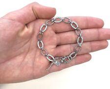 "New Elegant Real Silver Bracelet 7"", Womens Jewelry, Pulsera Elegante Para Mujer"