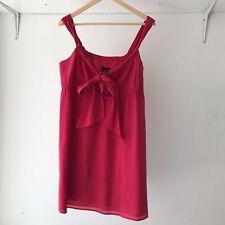 Theory Womens 100% Cotton Empire Waist Mini Dress Pink, Size Small / AU Size 8