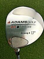 "Adams Golf GT Tight Lies Strong 4 Wood 17* / LH / Stiff Graphite ~41.75"" /gw2414"