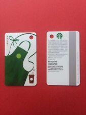 CS1745 2017 China Starbucks Coffee Mini Green Apron MSR Card 1pc
