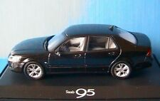 SAAB 9-5 AERO 4 DOORS BLACK MOTORART 1/43 BERLINE NOIRE 2006 BERLINE NOIRE NOIR