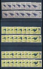 BRITISH HONDURAS 1962 BIRDS 1c + 2c MINT UM WHOLESALE LOT...46 stamps...cv £75+