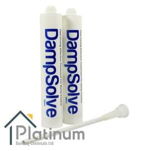 2 x DAMPSOLVE Damp Proof Injection Cream | DPC Course Rising Damp Treatment