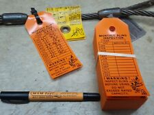 Monthly Sling Inspection Tags Labels For Inspection all types of Slings  50 Tags