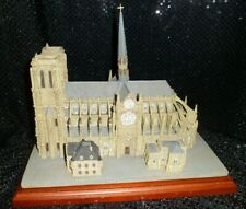 New ListingBeautiful Danbury Mint Notre Dame Historic Catholic Church Sculpture Replica Coa