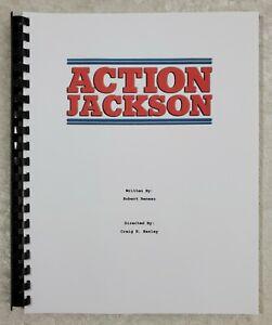 Action Jackson Reprint Full Screenplay Full Script 1988 Film Carl Weathers