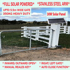 Full Solar Single Swing Gate Opener Kit Automatic Electric 5.5m 350kg 30W 9AH
