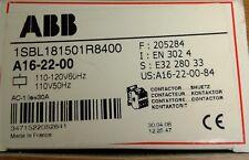 NEW IN BOX!    ABB Contactor A16-22-00 1SBL181501R8400