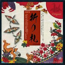 "Japanese Origami Folding Paper 6"" (15cm) Hanafuda Cranes 48 Sheets Made in Japan"