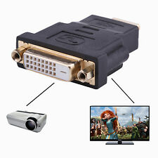 Home Audio HDMI Male To DVI-D Female 24+1 DVI Cord Cable Converter Adapter Loud