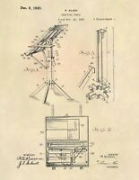 Architect Drafting Table US Patent Art Print - Vintage Antique Engineer - 722