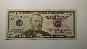 2006 $50.00 FRN  IB55835157B Uncirculated Crisp Bill - New York Federal District