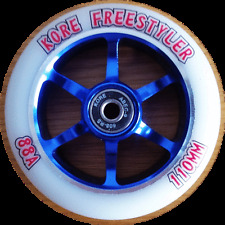 110mm KORE FREESTYLER PRO SCOOTER WHEEL WITH BEARINGS METAL CORE RAZOR MGP