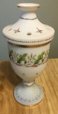 Bristol Glass Flower Or Potpourri Vase Decorated