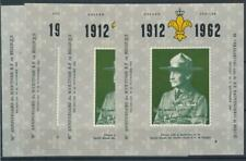 [2276] Belgium 1962 scouting good sheets very fine MNH imperf (4x)