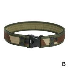 Men's Belts Camouflage Tactical Belt Thicken Canvas Waistband Adjustable L8K1