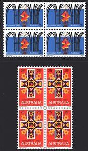 Australia 1967 Christmas set of 2 Blocks of 4 Mint Unhinged