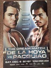 The Dream Match- Oscar de la hoya vs Manny Pacquiao 40 x 27 poster