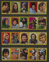 Complete Set of 40 Vlinder Movie Music Star Vintage 1970s Matchbox Label F Serie