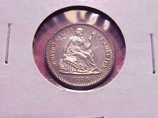1860 Seated Liberty Legend Obverse Half Dime Silver Select Proof