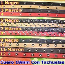 1 Metro de Cuero 10x2,5mm C04 A Escoger Bisuteria Leder Leather Cuir Perles