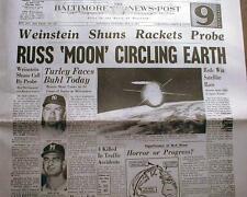 31 newspaper reprints BIG headlines SPACE EXPLORATION 1913-1986 ASTRONAUTS Glenn