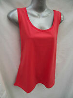 BNWT Ladies Sz 12 Rivers Brand Pretty Orange Stretch Sleeveless Relaxed Fit Top