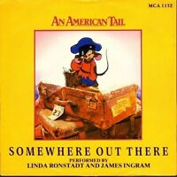 """LINDA RONSTADT/JAMES INGRAM somewhere out there - an american tail 7"""" PS EX/EX"""