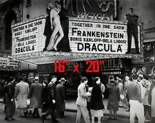 "Frankenstein~Dracula~Double Feature~Entertainment Room ~Photo~ Poster 16"" x  20"""