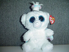 "RETIRED TY Beanie Boo Boos Halo Bear 6"" big eyes ANGEL Mint Christmas NWT White"