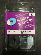 "QTY 125 PCS - 5/16"" X 1 1/2"" Zinc Plated Fender Washers Midwest Fastener"