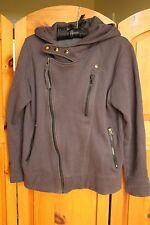 Mens Grey Gray Asymmetrical Zip Sweater Hoodie Made in Korea Fleecy Lined