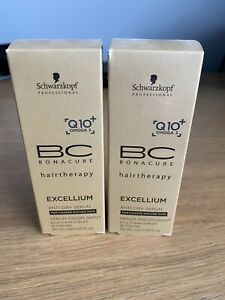 2x Schwarzkopf Bonacure Hairtherapy Excellium Q10+ Omega 3 Anti-Dry Serum 30ML