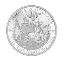 2013 $20 PURE SILVER COIN: 300TH ANNIVERSARY OF LOUISBOURG