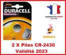 2 Piles CR-2430- DL-2430 DURACELL bouton Lithium 3V DLC 2025