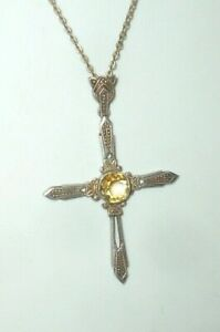 Old Necklace Silver cross Pendant 830 Silver Kruzifx Rosary???